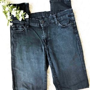 7 For All Mankind The Skinny Jeans in Dark Grey